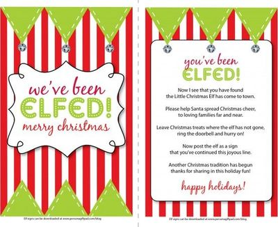 image about You've Been Elfed Printable titled Youve been elfed! / xmas christmas guidelines - Juxtapost