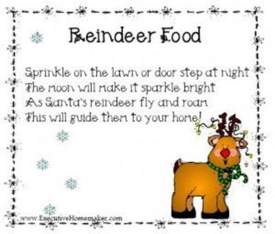 reindeer food poem / christmas xmas ideas - Juxtapost