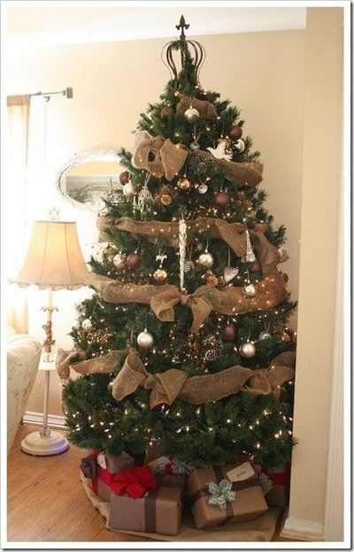 burlap garland to decorate a christmas tree its cheap and cute i will - Cheap Christmas Trees For Sale