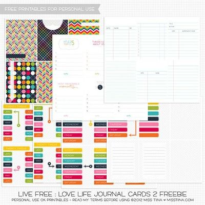 More fantastic free printable journal cards from Miss Tiina!