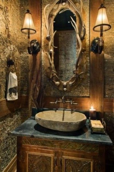 man cave deer bathroom for the home juxtapost