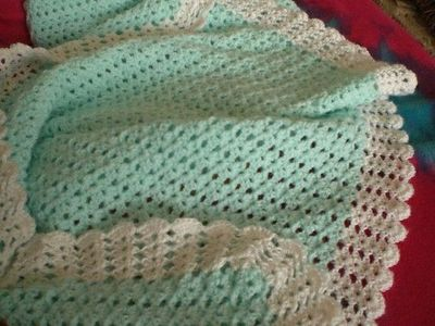 Free Crochet Afghan Patterns Shell Stitch : Free Crochet Baby Afghan Drip Stitch - Shell Stitch ...