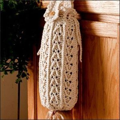 Crochet Pattern Plastic Bag Holder : PLASTIC BAG HOLDER: http://www.crochet-world.com/patterns ...