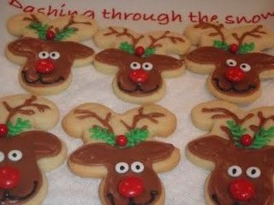 Reindeer Cookies Made With Upside Down Gingerbread Men Cook