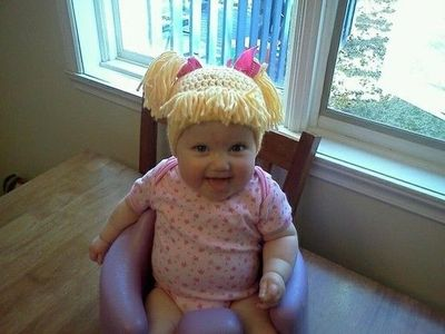 Knitting Pattern For Cabbage Patch Hat : Cabbage Patch Knit Hat / crochet ideas and tips - Juxtapost