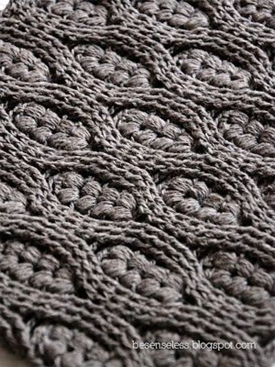 Crochet Cable Stitch Instructions : Puff stitch and crochet cables / crochet ideas and tips ...
