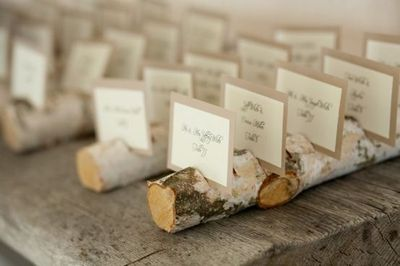 tree branch placecard holders