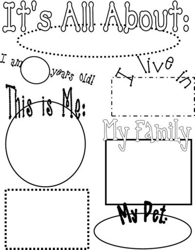 All About Me Poster / Preschool items - Juxtapost