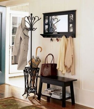 love this bench coat rack and mirror now where can i get s for the home juxtapost. Black Bedroom Furniture Sets. Home Design Ideas