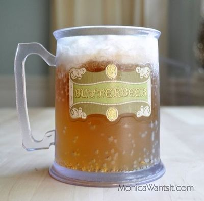 I couldn't resist this one: Low Calorie Butterbeer Recipe