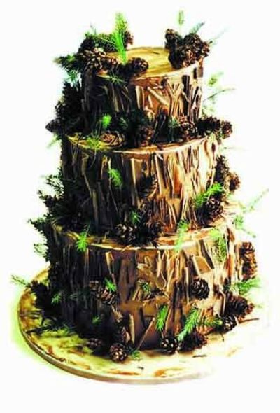 Enchanted Forest Themed Wedding Cake Forest Themed Wedding Cake
