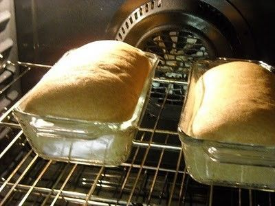 Easy homemade wheat bread in the oven