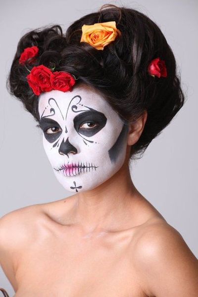 Halloween sugar skull face paint / halloween time! - Juxtapost