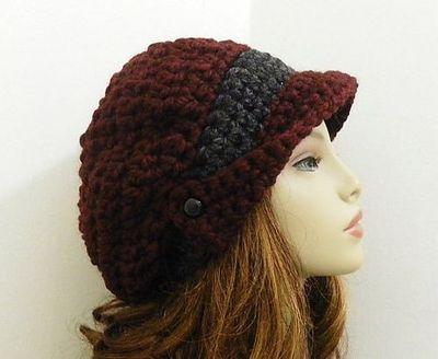 winged brim slouchy newsboy hat pattern.....uhhhhhh dorable ...