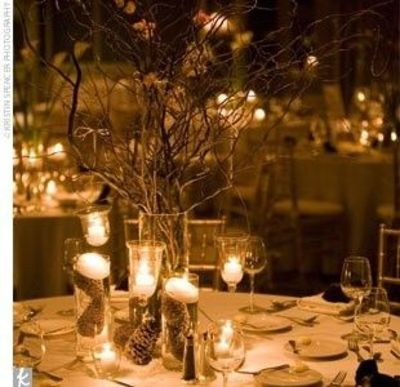 Fall wedding table decor wedding juxtapost for Guirlande lumineuse exterieur guinguette