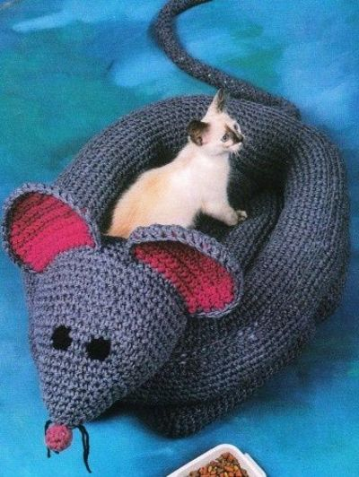 Mouse Cat Bed Crochet Pattern Crochet Ideas And Tips Juxtapost