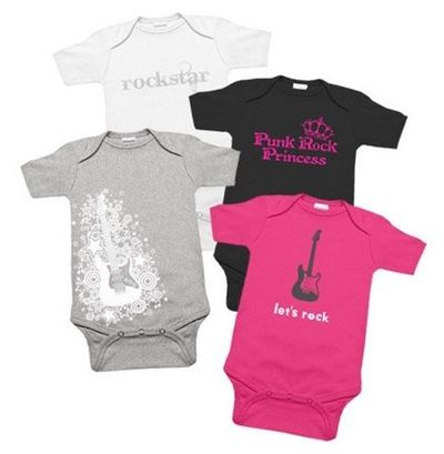 Baby Boys' Rock Star Preemie and Newborn Clothing Set. Handmade with love by Jacqui's Preemie Pride, Inc. Four premature baby boy and newborn infant sizes.