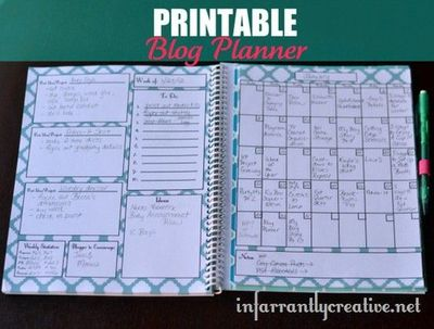 free printable blog planner perfect for the creative blogger for