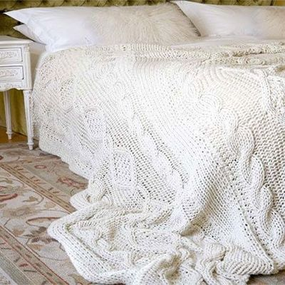 Home-Dzine - Knit a cable bed throw or blanket FREE PATTERN!!