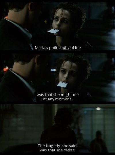 the theme of insomnia in the movie fight club Fight club questions and answers  in the movie fight club by david fincher, the protagonist has dissociative identity disorder  how is violence a part of the theme in fight club by chuck .