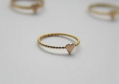 Tiny Heart Ring - Gold Filled Stackable Ring - Valentine Jewelry - Love Symbol Ring