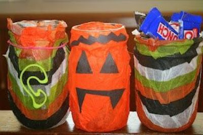 Crafty Halloween Candy Jar- could recycle 2 liter bottles
