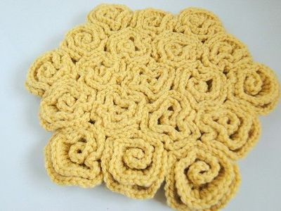 Free Crochet Pattern Rose Field : rose field crochet blanket ~ awesome in a solid color ...