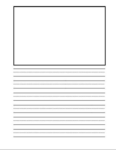 Free Downloadable writing paper / Preschool items - Juxtapost