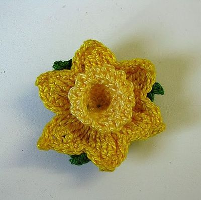 Ravelry Crochet Daffodil Free Pattern By Mary Pacella Crochet