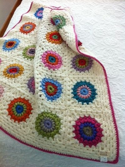pretty crochet granny square blanket # Pin++ for Pinterest #