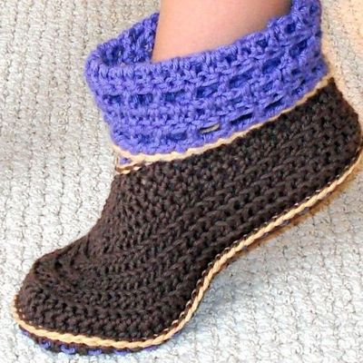 Crochet Pattern Adult And Kids Booties Genevivesy