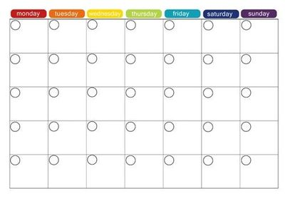 blank printable calendar / Preschool items - Juxtapost