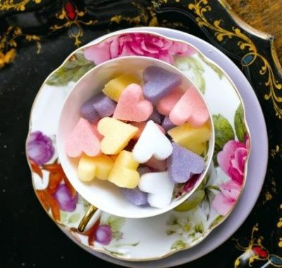 make sugar shapes in different colors! - for the girly tea party