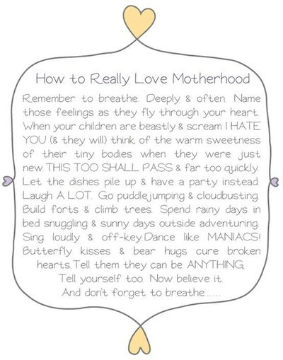 I LOVE Being A Mom