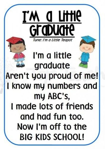 Poems preschool graduation poems for kids quotes about saying goodbye