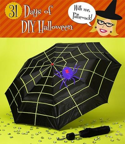 Spider Web umbrella #halloween #spider #spooky