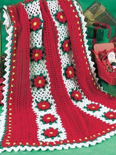 Free Online Christmas Crochet Afghan Patterns : Christmas Flowers Afghan free crochet pattern / crochet ...