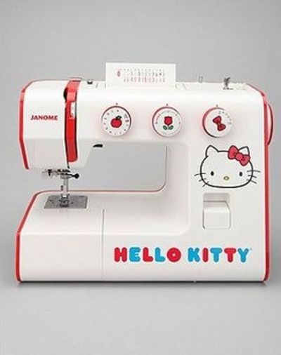 Hello Kitty Janome sewing machine for all your DIY needs