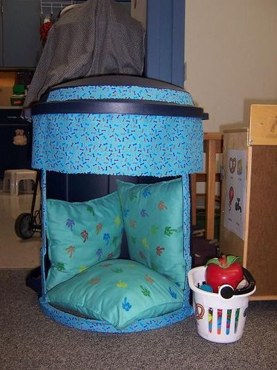 I Created A Safe Spot Out Of A New Garbage Can I Preschool Items Juxtapost