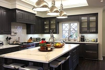 Cabinet Paint Color Is Ben Moore Iron Mountain And Wall