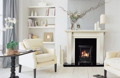 Erica Brand posted shelves next to fireplace to her -For the home- postboard via the Juxtapost bookmarklet.