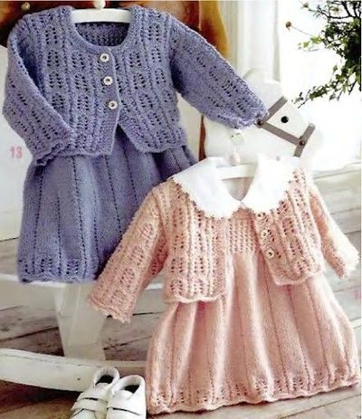Pinafore Dress with Cardigan free knit pattern / knits and ...