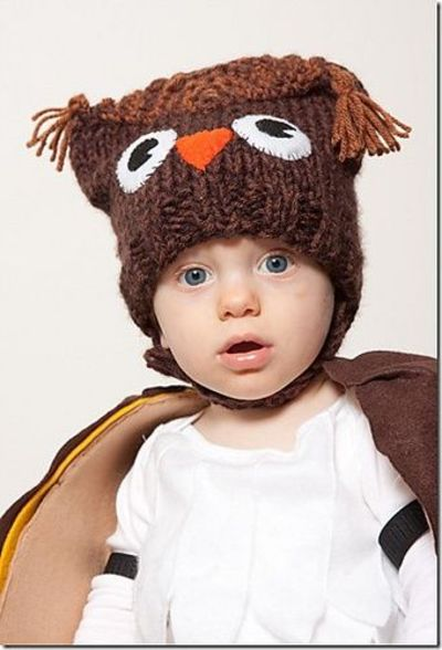 Free Knitting Patterns For Baby Owl Hats : Baby owl hat knit free pattern / knits and kits - Juxtapost