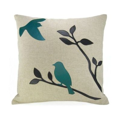 Bird Themed Throw Pillows : Turquoise bird throw pillow case from ClassicByNature.etsy.c... / For the home - Juxtapost
