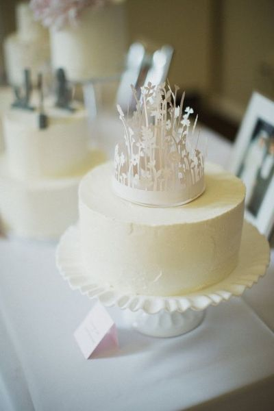 floral crown cake topper