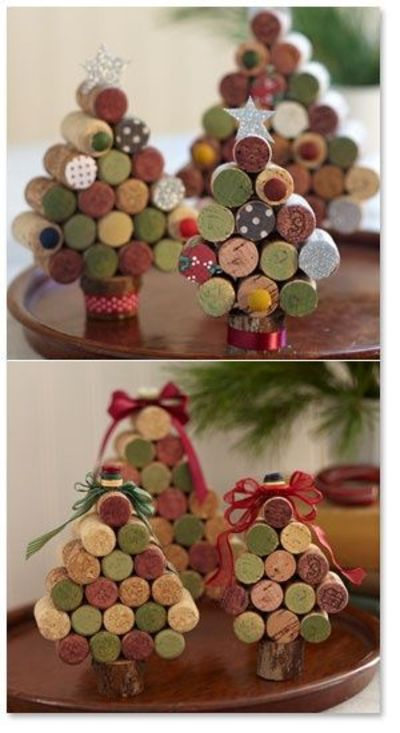 Cute wine cork trees! I love ideas for using wine corks.....,.