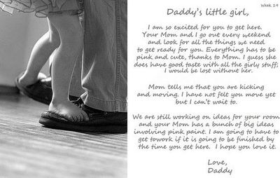 daddys letter to unborn baby so sweet