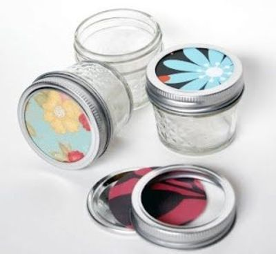 paper decorated mason jar lids papercraft juxtapost