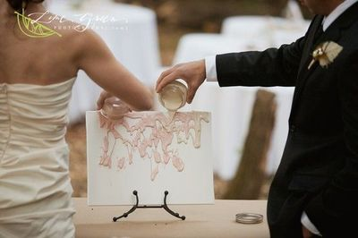 Bride and groom created a unity painting instead of a ...