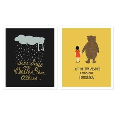 "Better Days Quotes Adorable Better Days."" Print Set  Inspiring Quotes And Sayings  Juxtapost"